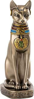 Top Collection Goddess Bastet Statue - Ancient Egyptian Goddess of Protection Sculpture in Premium Cold Cast Bronze - 8-Inch Collectible Fertility Cat Figurine