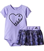 adidas Kids - Love Adidas Bodyshirt Set (Infant)