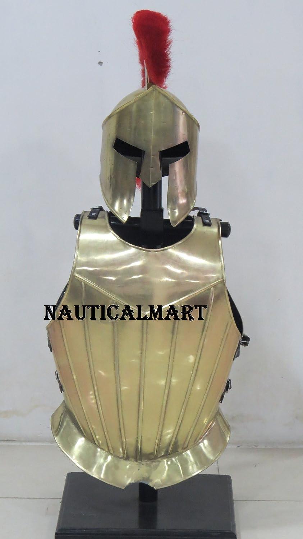 NAUTICALMART Medieval Knight Armor Breastplate with Spartan Helmet
