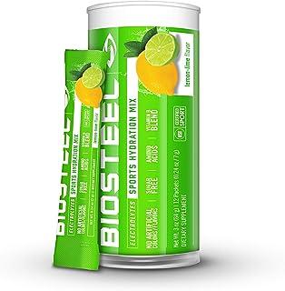 BioSteel Hydration Mix - Sugar Free, Essential Electrolyte Sports Drink Powder - Lemon-Lime - 12 Single Ser...
