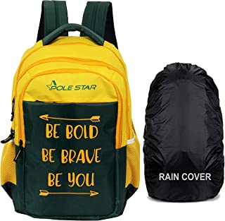 POLESTAR Bold 42 ltrs with RAIN Cover Casual Backpack/School bagpack/Travel Bag (Yellow)