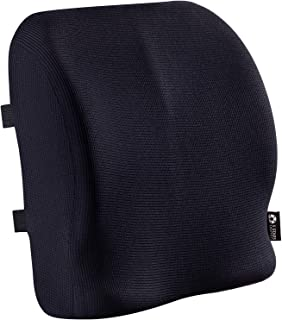 Back Support for Office Chair - Memory Foam Lumbar Pillow - Large Perfect Cushion for Wheelchair, Car, Computer and Desk Seat