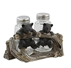 Two Cute Hanging Black Bears Salt & Pepper Set – Rustic Cabin Cub Decor