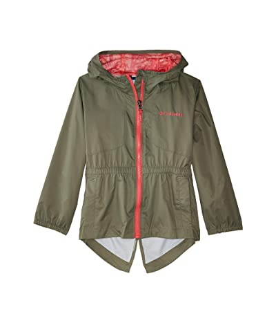 Columbia Kids Dolliatm Rain Jacket (Little Kids/Big Kids) (Cypress/Bright Geranium/Palm Print) Girl