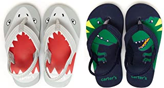 Carter's Unisex-Child Silky Two-Pack Flip-Flop Set