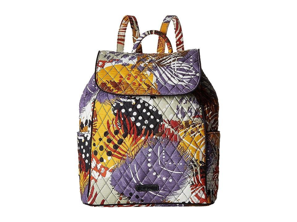Vera Bradley Drawstring Backpack (Painted Feathers) Backpack Bags