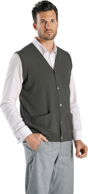 Cashmere Boutique: Boston Mall Men's 100% Pure Sleeveless Financial sales sale Cardigan