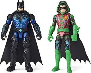 DC Comics Batman 4-inch Bat-Tech Batman and Robin Action Figures with 6 Mystery Accessories, for Kids Aged 3 and up