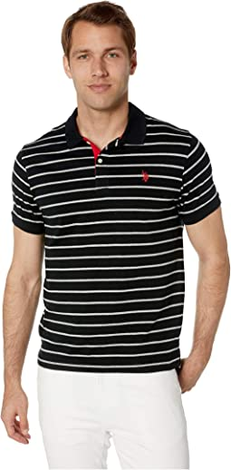 Slim Fit Fine Stripe Polo