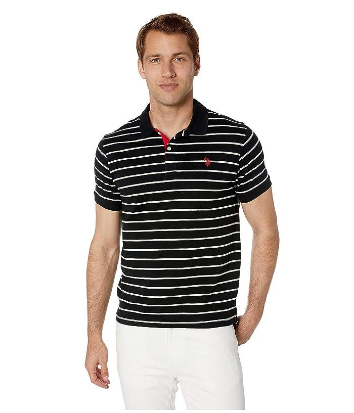 U.S. POLO ASSN. Slim Fit Fine Stripe Polo