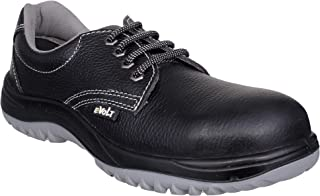 E-Volt 82207-Geo_09 Safety Shoe, Steel Toe Cap for 200 Joules, Double Density PU Sole