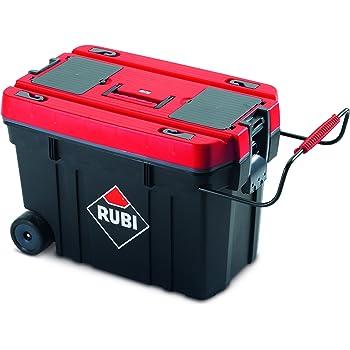 Rubi 71954 Caja herramientas de plástico, Rojo: Amazon.es: Bricolaje y herramientas
