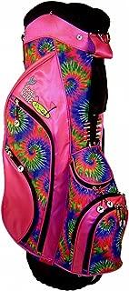 Birdie Babe Womens Golf Bag Pink Tie Dye Ladies Hybrid Stand Golf Bag