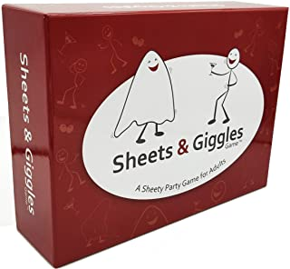 Sheets & Giggles Game - Adult Party Game That`s Hilarious and Disturbing - NSFW Red