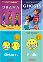 Raina Telgemeier 4 Books Collection Set (Sisters, Drama, Smile, Ghosts) (Childrens Books, Age 10 to 14)