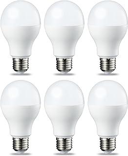Amazon Basics Lampadina LED E27, 14W (equivalenti a 100W), Luce Bianca Calda - Pacco da 6