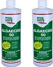 Pool Mate 1-2150-02 Algaecide 50 Swimming Pool Algaecide, 1-Quart, 2-Pack