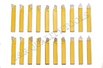 "20pc 3/8"" Carbide Tip Tipped Cutter Tool Bit Cutting Set For Metal Lathe Tooling"
