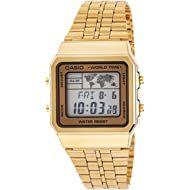 Men's Digital World TIME A500WGA-9DF Stainless Steel Watch