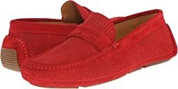 Red Woven Suede