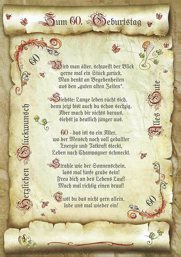 Karte spruch 60 geburtstag Glückwünsche zum