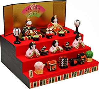 錦彩華みやび雛(三段飾り) 陶器 雛人形 ひな人形 ミニつるし飾り特典付オリジナル雛人形 雛 ミニ 雛飾り 初節句 雛まつり