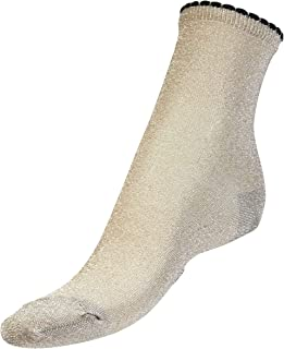 Bella Ballou Womens Metallic Lurex Crew Socks - One Size, Gold, Silver, Copper, Blue, Black, Red