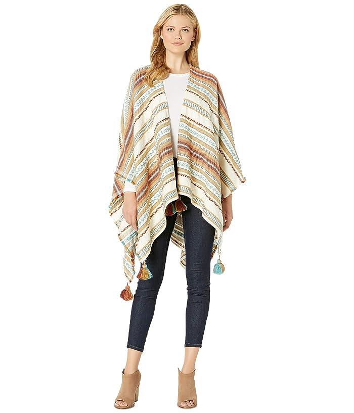 Pendleton Paloma Stripe Wrap (Brown Stripe) Women
