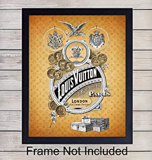 Louis Vuitton Wall Art Print - Ready to Frame (8x10) Vintage Photo - Makes a Great Gift for Fashion Lovers and Designers - Perfect for Bedroom, Living Room, Office - Chic Home Decor