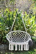 Angel Living Hamaca de algodón Tejida para Colgar Silla de Columpio de 260 Libras de Capacidad para Interior y Exterior Patio Porche Patio balcón jardín Patio