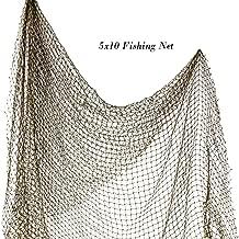 Fishing Net 5' x 10'   Authentic Nautical Net   Decorative Fish Net   Plus Free Nautical eBook by Joseph Rains (1 Pack)