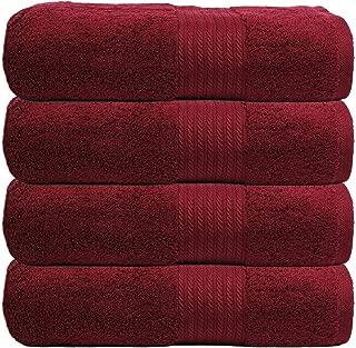 TRIDENT Air Rich Edition 2019 Technology Premium Cotton 720 GSM 4 Pcs Bath Towels - Maroon