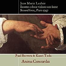 J.M. Leclair Sonatas for Two Violins Op.12 Second