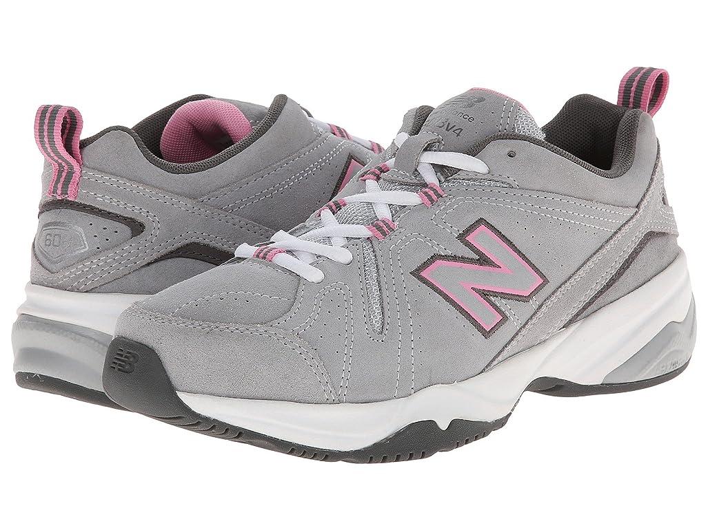 魅力似ている単に(ニューバランス) New Balance レディーストレーニング?競技用シューズ?靴 WX608v4 Grey/Pink 6 (23cm) 2A - Narrow