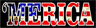 Merica Decals for Trucks Quality Merica Flag Decal Merica Bumper Sticker for Cars or Truck Large Sticker 1010