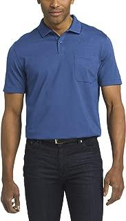 Men's Short Sleeve Jacquard Stripe Polo Shirt