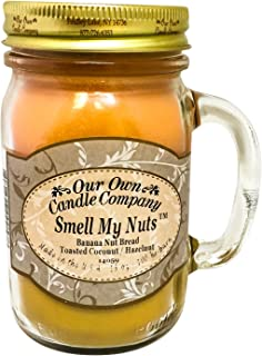 Smell My Nuts Scented 13 Ounce Mason Jar Candle by Our Own Candle Company - 3 Pack