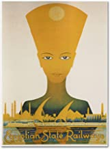 Egyptian State Railway Artwork by Vintage Apple Collection, 35 by 47-Inch Canvas Wall Art