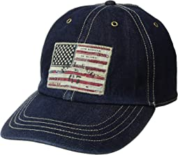 Denim Iconic Flag Cap