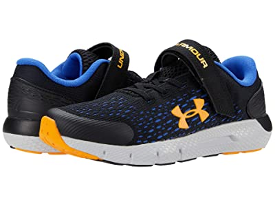 Under Armour Kids Charged Rogue 2 (Little Kid) (Black/Halo Gray/Lunar Orange) Boys Shoes