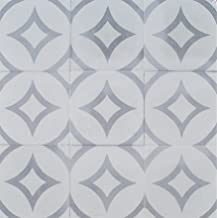 Luna Gray Encaustic 8x8 Honed Finish Cement Tile Floor