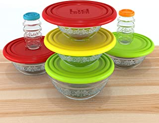 LidLover Silicone stretch lids; Reusable bowl covers; Microwave cover; Universal pot pan lid; BPA free silicone lids; Stove top cooking lids; Oven pan lids; Each lid covers up to 4 bowl sizes