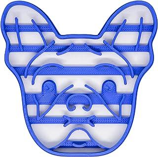 Tagliabiscotti a forma di faccia di Bulldog Francese