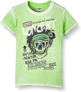 MEK Boys Camicia Mussola Stampa Pois Casual Shirt