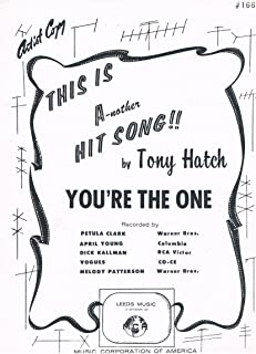 YOU'RE THE ONE (Artist Copy) Sheet Music - Piano Vocal Guitar