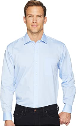 Solid Magnetically-Infused Pinpoint Dress Shirt- Spread Collar