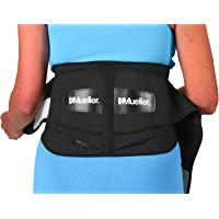 Mueller 255 Lumbar Support Back Brace with Removable Pad