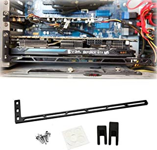 CloverTale Graphics Card GPU Brace Support, Video Card Sag Holder Bracket, Anodized Aerospace Aluminum (Upgraded Version Black)