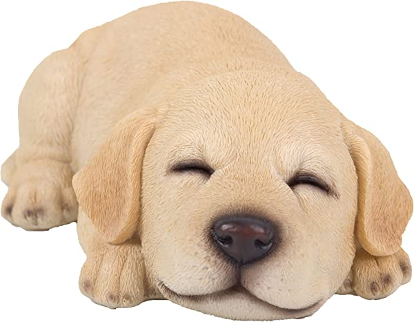 Sleeping Yellow Labrador Retriever Puppy Figurine