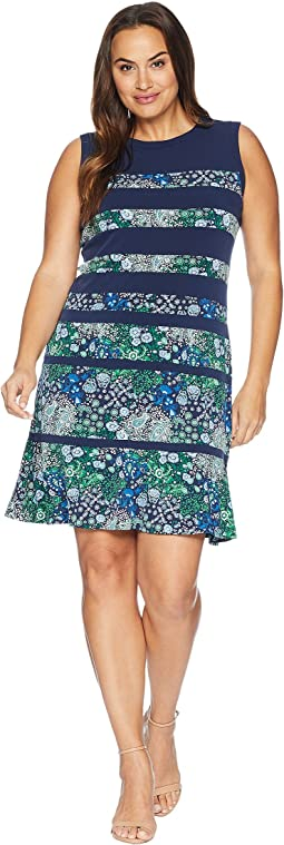 Plus Size Paisley Remix Paneled Dress